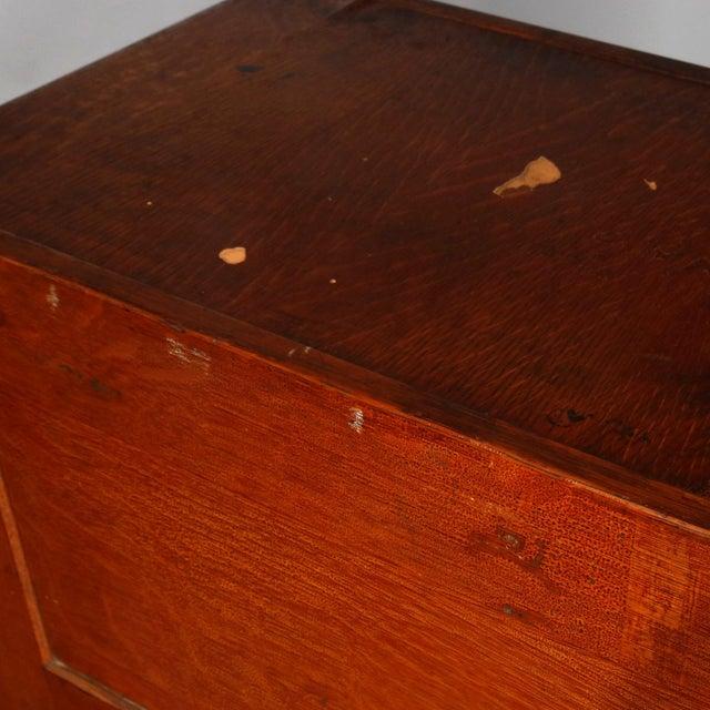 Brown Antique Arts & Crafts Paneled Oak 10-Drawer Filing Cabinet, Yawmen & Erbe For Sale - Image 8 of 10