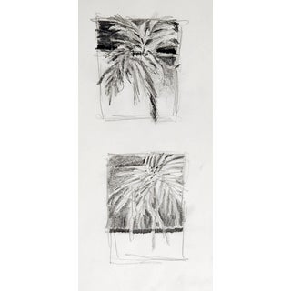 Tiny Foliage Pencil Study Drawings For Sale