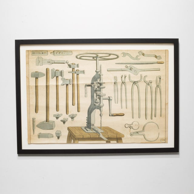 German Industrial Framed Elementary School Scrolls C.1930 For Sale - Image 4 of 10