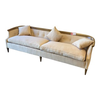 Vintage Erwin-Lambeth for Tomlinson Curved Walnut Sofa For Sale