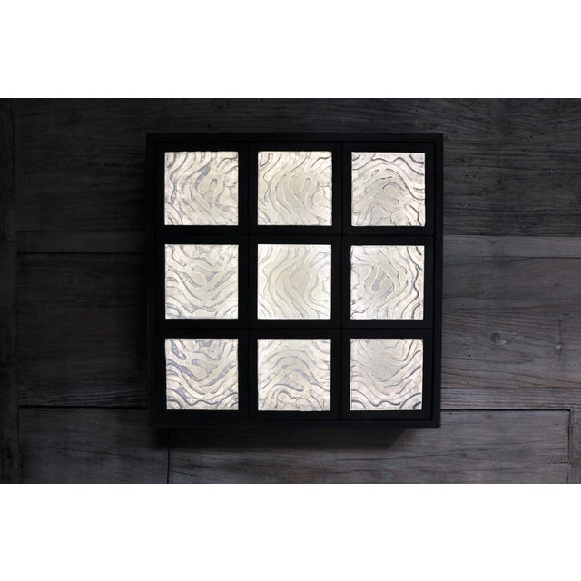 2010s Golden Triangle Chicago Cast Glass Light Box For Sale - Image 5 of 13