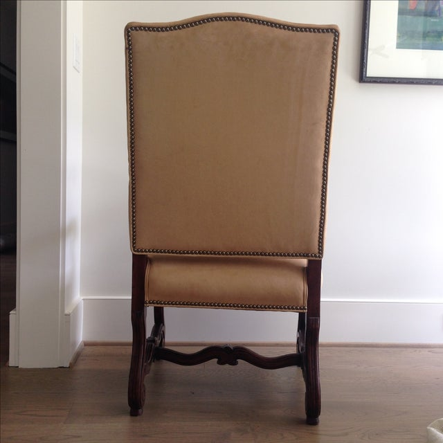 Mediterranean Fremarc Carved Provence Dining Chairs - Set of 6 For Sale - Image 3 of 9