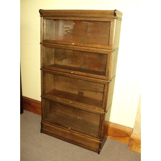 Antique Oak Lawyer Barrister Stack Bookcase Preview