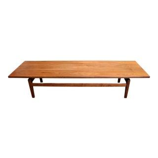 Danish-Modern Bench / Coffee Table in Walnut by Jens Risom For Sale