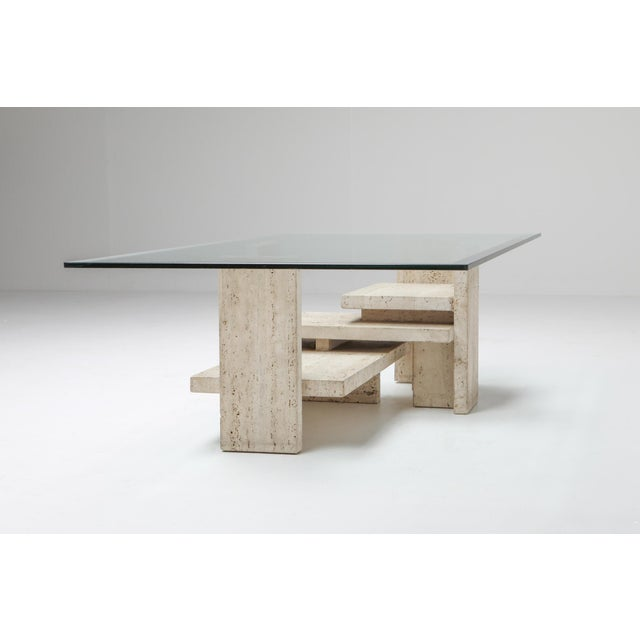 Travertine Postmodern Coffee Table - 1970s For Sale - Image 9 of 10