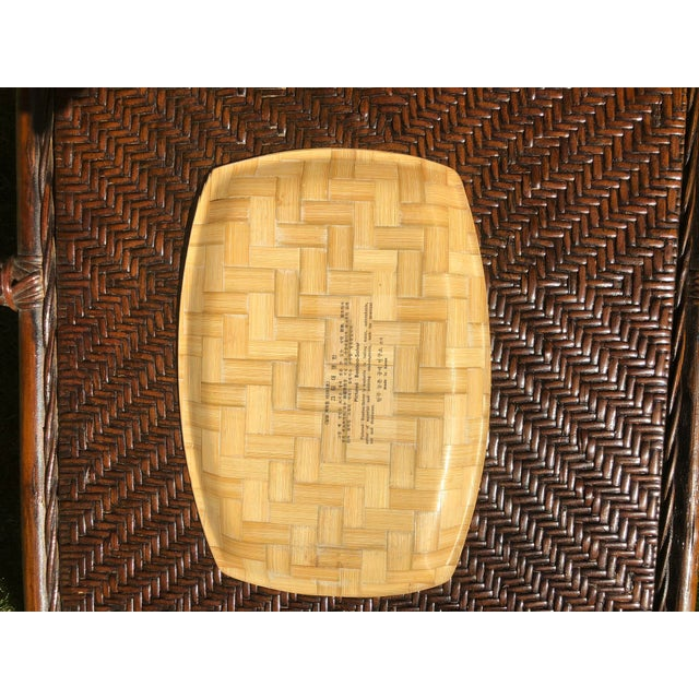 Vintage Chinoiserie Bamboo Serving Tray/ Wall Art | Chairish