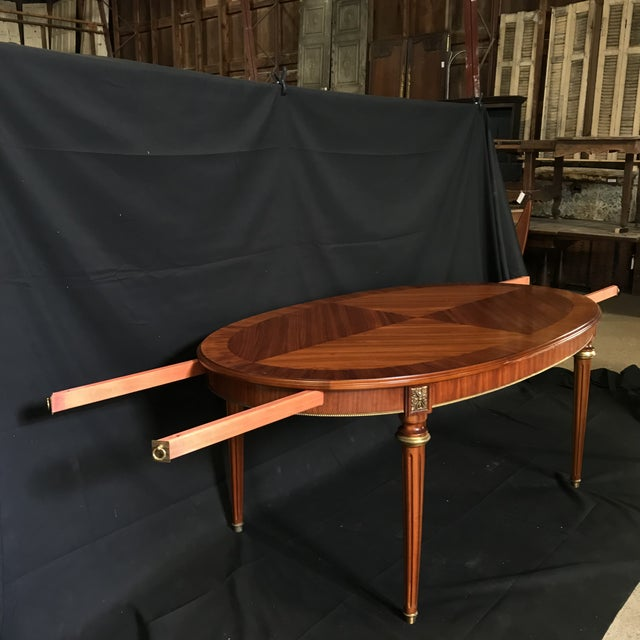 Brown Mid 19th Century Louis XVI Style Oval Fruitwood Dining Table For Sale - Image 8 of 12