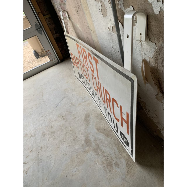 Rustic Vintage Church Sign For Sale - Image 3 of 4