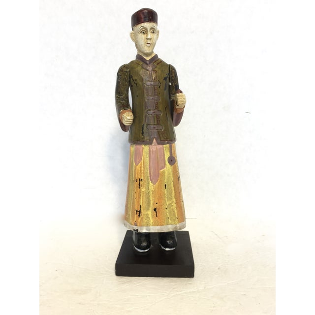 Hand-Carved & Painted Chinoiserie Statue - Image 2 of 6
