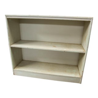 Vintage Sage Green Bookshelf Two Shelves
