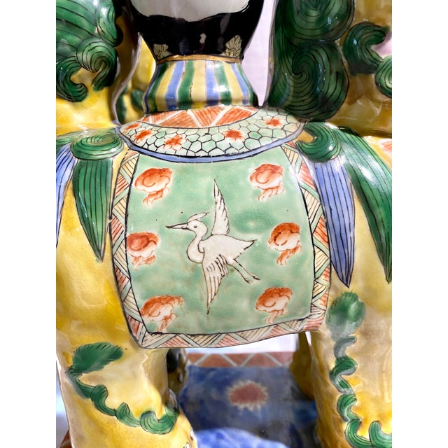 Chinese Foo Dog Candlesticks - a Pair For Sale - Image 4 of 13