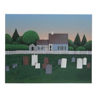 """Ted Jeremenko, """"Sleeping Place"""", Folk Art Landscape For Sale"""
