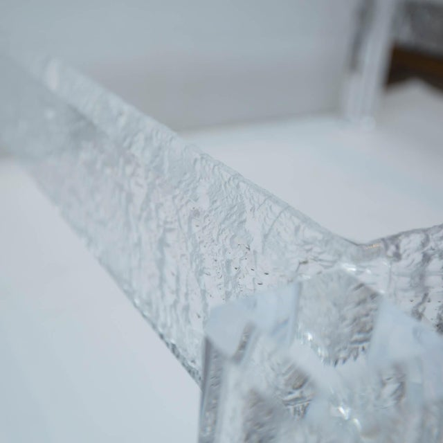 Large Custom Lucite Coffee Table Base For Sale In New York - Image 6 of 9