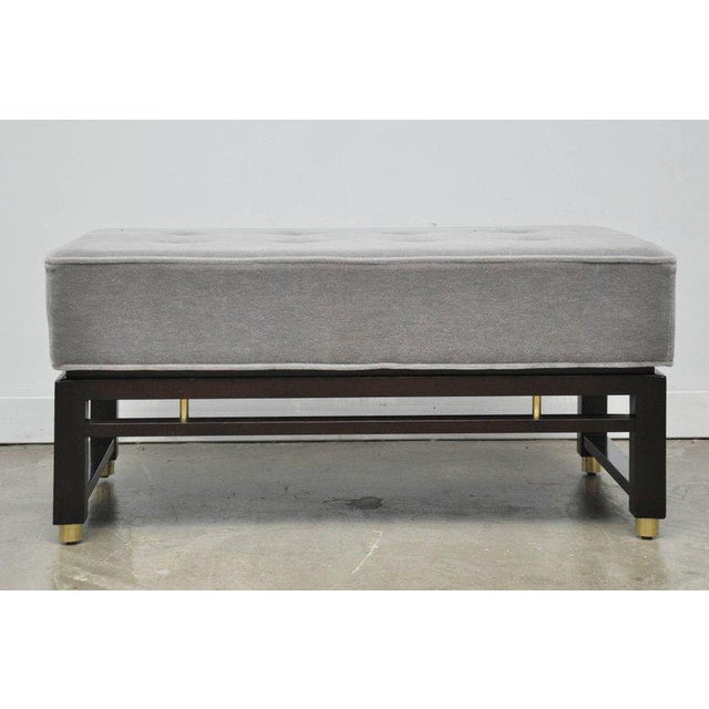 Metal Dunbar Benches by Edward Wormley with Brass Accents For Sale - Image 7 of 7