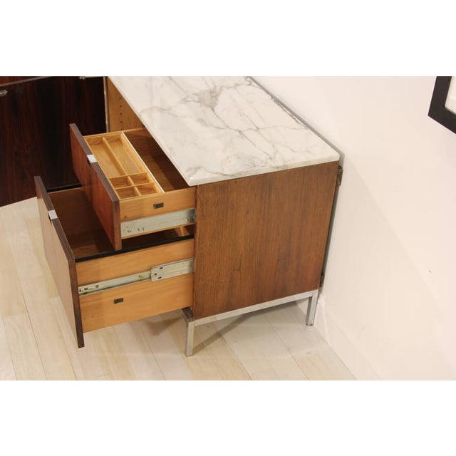 Knoll Rosewood Marble-Top Credenza - Image 6 of 9