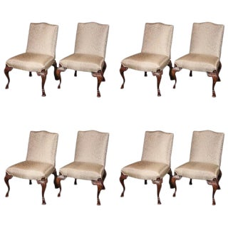 Early 18th Century Walnut Dining Chairs - Set of 8 For Sale