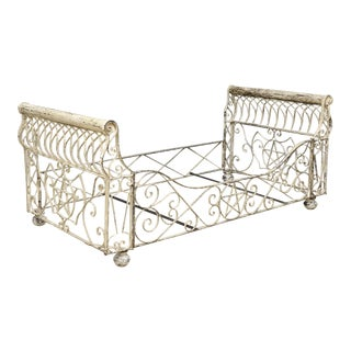 Antique French Iron Star Daybed