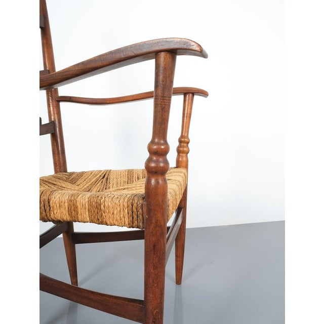 Armchair Attributed to Paolo Buffa, Possible Made by Marelli, Circa 1948 For Sale - Image 6 of 13