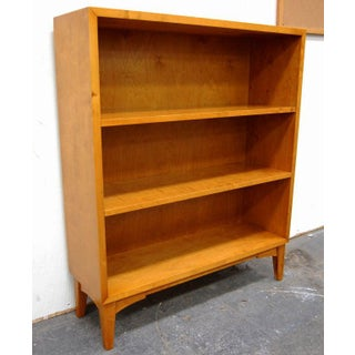 Swedish Art Moderne Golden Flame Birch Bookcase Preview