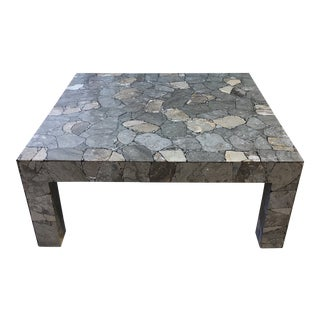 Custom Shawna Stoney Design Stone Coffee Table For Sale