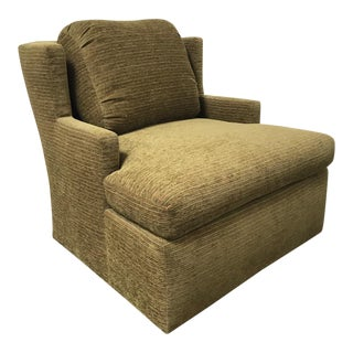 RJones Dunvegan Olive Lounge Chair For Sale