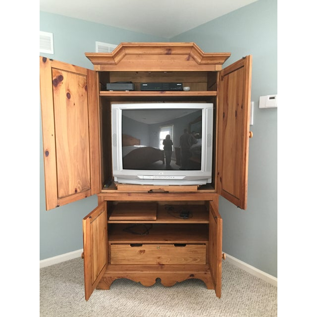 Ethan Allen Wooden Armoire - Image 5 of 9