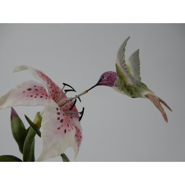 Boehm Hummingbird With Rubrum Lily Statue For Sale - Image 10 of 12