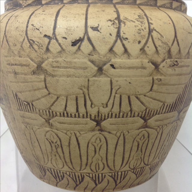 Large 1930's Monmouth Egyptian Vase For Sale - Image 4 of 5