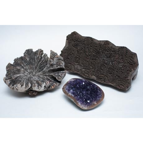 Amethyst Crystal & Wood Pieces - Set of 3 - Image 3 of 11