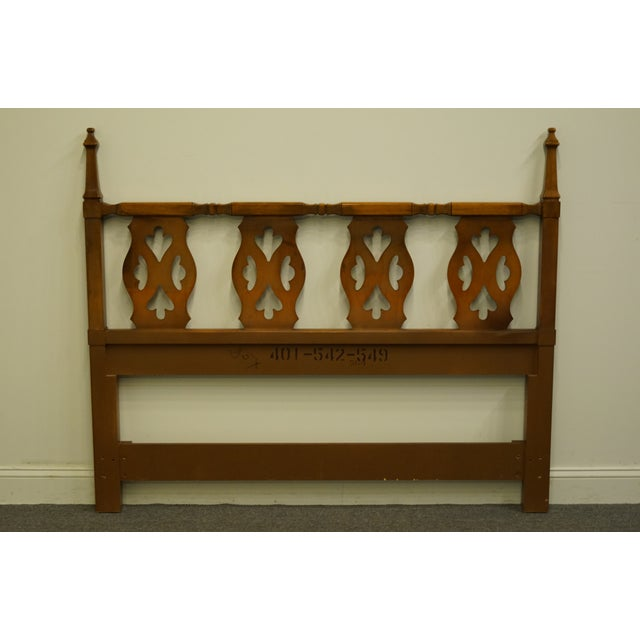 20th Century Spanish Drexel Furniture Esparanto Collection Queen Size Headboard For Sale In Kansas City - Image 6 of 8