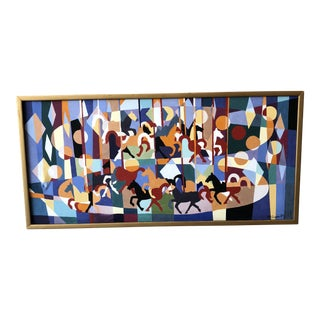 1965 Abstract Carousel Painting For Sale