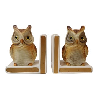 1950s Lefton Owl Bookends - a Pair For Sale