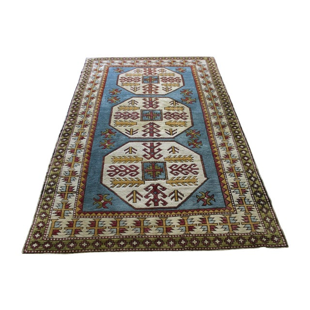"Turkish Anatolian Area Rug - 5'2"" X 8'1"" - Image 1 of 7"