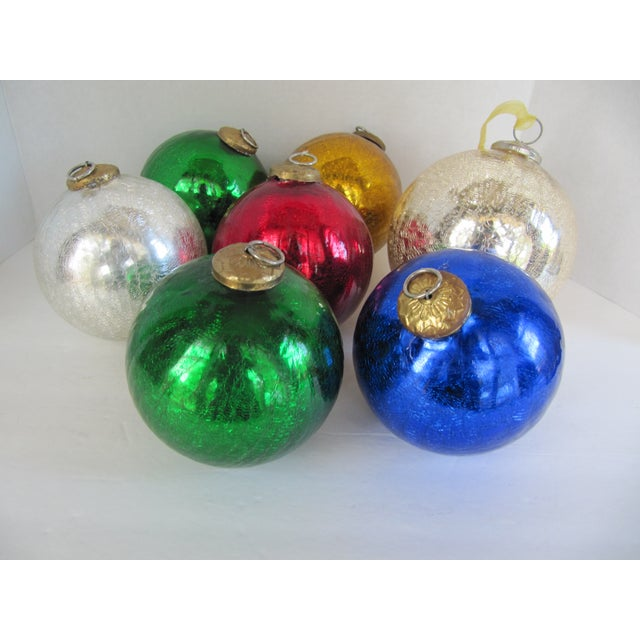 Colored Mercury Glass Ornaments - Set of 7 - Image 6 of 6
