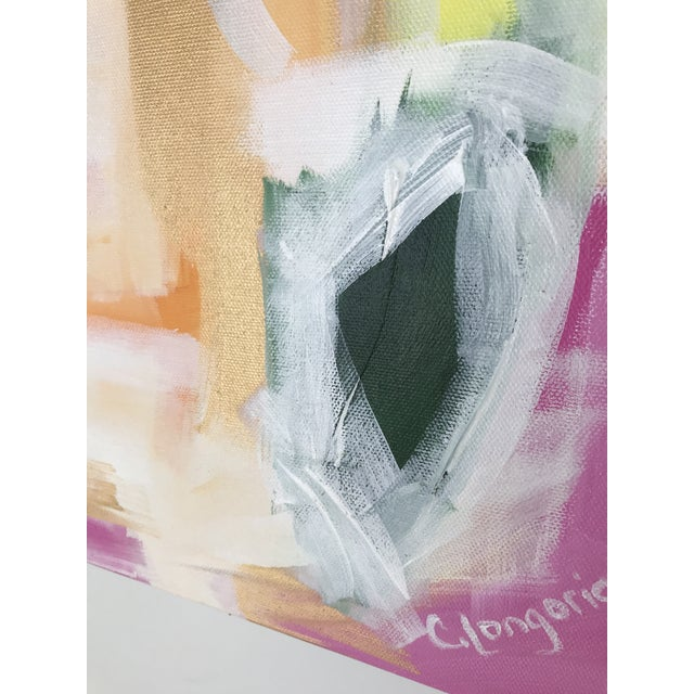 """Christina Longoria """"Lenette"""" Abstract Painting For Sale - Image 4 of 5"""