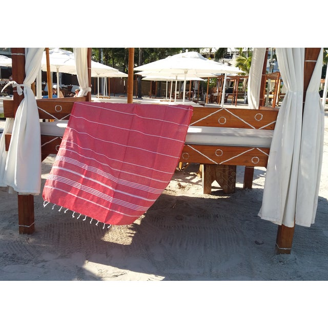 Strawberry Fisherman Striped Towalla Towel - Image 5 of 7