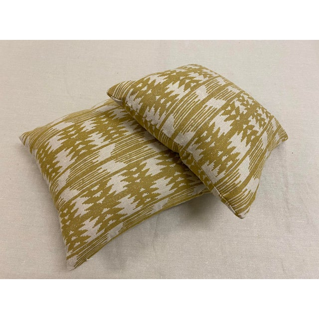 Great double-weave Sunbrella pattern of a Southwestern or South American ikat pattern in natural yellow-y golden...