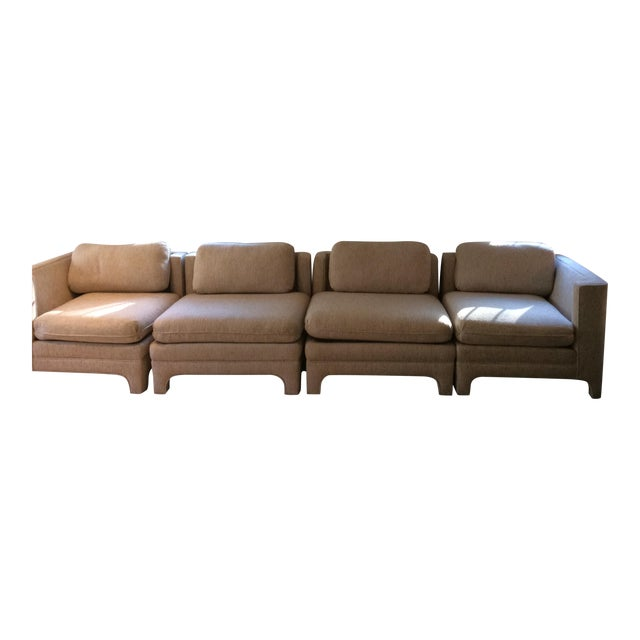 Milo Baughman Style Sectional Couch - Image 1 of 11