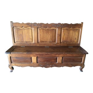 Early 20th Century French Louis XV-Style Country Bench For Sale