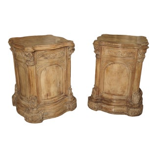 Pair of Carved French Regence Style Pedestals For Sale