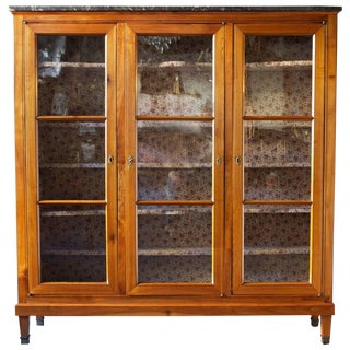 Late 18th Century Antique French Directoire Period Bookcase For Sale