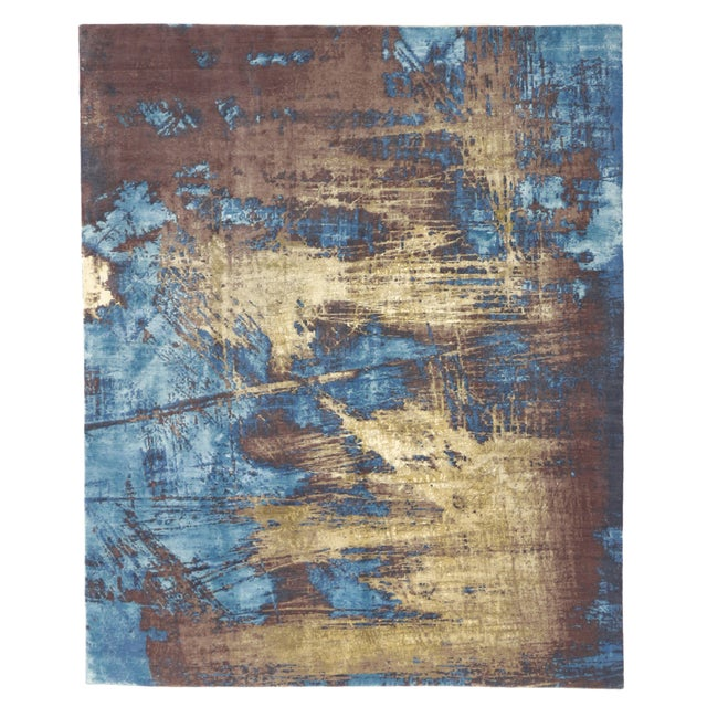 "Contemporary Abstract Scratch Texture Rug - 8'7"" x 9'11"" - Image 6 of 7"