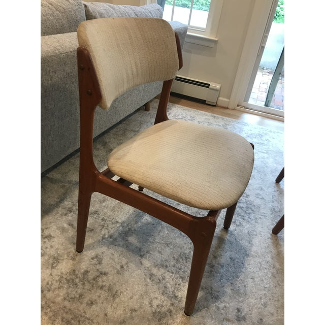Wood Mid-Century Dining Table & Chairs by Skovby & o.d. Mobler - Set of 5 For Sale - Image 7 of 13
