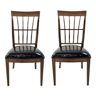 Caracole Modern Craftman Dining Chairs Pair For Sale