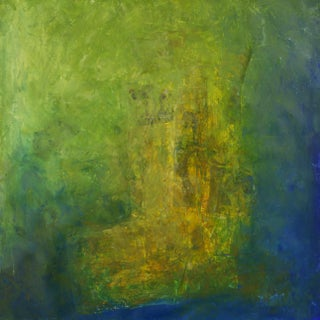 Contemporary Abstract Expressionist Mixed-Media Painting For Sale