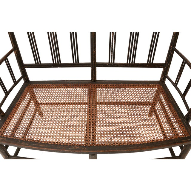 Regency Caned Settee For Sale - Image 11 of 12