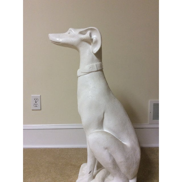 White Whippet Statue For Sale In Rochester - Image 6 of 7