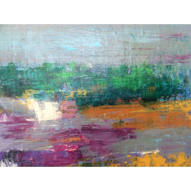 "Abstract ""Cape Cod Salt Marsh"" Painting For Sale - Image 7 of 7"