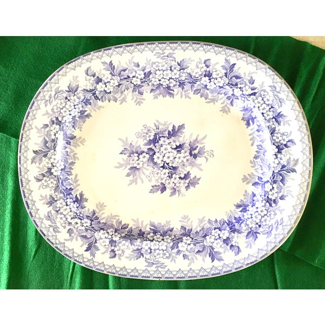 Ceramic Antique Staffordshire England Platter For Sale - Image 7 of 7
