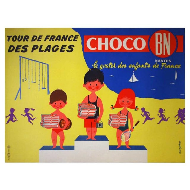"""Original French """"Choco Bn"""" Advertising Poster - Image 4 of 5"""